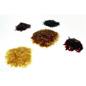 shellac-flakes-orange-rubin-red-garnet-black-transparent-abtn-lemon