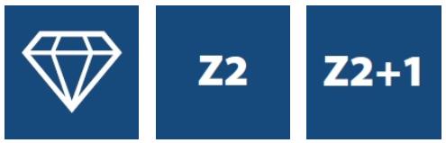 Фрезы алмазные Z2, серия DT2