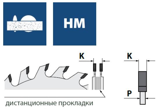Составные подрезные пилы к форматно раскроечным станкам, серия P37