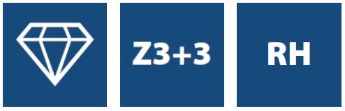 Фрезы алмазные Z3+3   NESTING, серия DTM