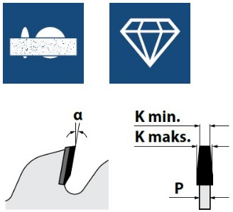 Алмазные конические подрезные пилы, серия DSB (H6)