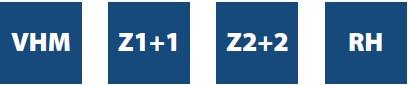 Серия 190. Спиральные фрезы Z2+2 с двунаправленным резом
