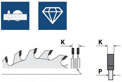 Алмазные подрезные пилы двухкорпусные, серия DSC (H4)