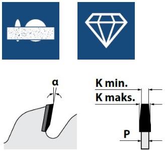 Алмазные конически подрезные пилы, серия DSB (H4)