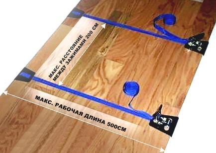 Зажим ленточный Piher 5м 800 кг для укладки паркетной доски, ламината, инженерной доски